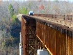 Road-Rail Vehicle Northbound across New River Bridge