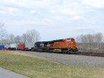 BNSF 7796 leading NS 8434
