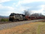 NS 7715 leading work train.