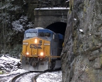 CSX 5251 rolls out of the seldom seen north end of Towers Tunnel...