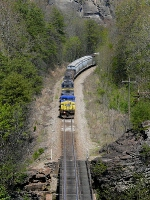 CSX 7905 leaving the Breaks Gorge...