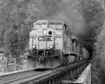 CSX 489 blows out of Pool Point Tunnel.