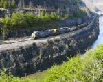 CSX 490 rolls through the city limits of Pikeville...