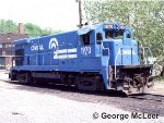 Conrail 1970 GE B23-7 at Bethlehem Yard May, 1985.