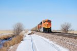 BNSF 9014 Leads a Loaded Coal Train eastbound towards BNSF Lincoln, Nebraska on this Very, Very Cold and Windy Day!!! BURR!