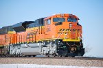 BNSF 9014 and BNSF 9470 wait to roll eastbound at Aurora, NE.