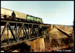 FREIGHT HEADING EAST OVER THE TRESTLE AT SPOKANE VALLEY