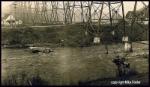 Old UP steel trestle over the Spokane River ca1930