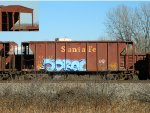Old Santa Fe Ballast Hopper - Now Used For Scrap Ties