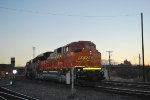 BNSF 9014 Reflects the light off the Setting Colorado Sun and My Flash as She Heads southbound as a Rear DPU.