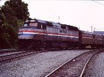 1983 Amtrak Cardinal crosses Southern main line on C&O main