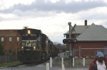 77E passing the old Southern Depot