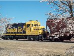 ATSF 2260 AT NUWEST MILLING MOVING CAR AROUND