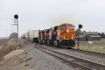 BNSF 6625 splits with West Chana signals with eastbound Z-STPCHC