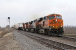 BNSF 6625 leads three Dash-9's east with UPS traffic in tow