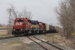 CP 5936 leads 273 past milepost 89 as it slows to make a setout in Byron