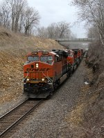 BNSF 6744 and 4 more GE's roll west with Z-CHCPTL
