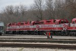 Three WSOR GP38's wait for their next call to duty