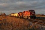 Shortly after the sun dropped below the cloud deck, 298 rolls east into Watertown