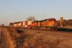 BNSF 5270 & 5679 bring S-TACCHC east across rural northern Illinois