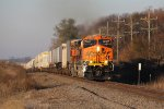BNSF 4021 & 4397 come flying east past milepost 118 with the Z-STPCHC