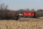 Train 470 holds back a few miles from the siding at Adeline while waiting for other traffic ahead