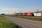 CP 6242 & 6238 along with DME 6051 lead 470 east through Byron