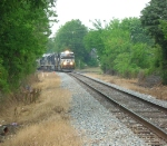 NS 7629 leaving town,