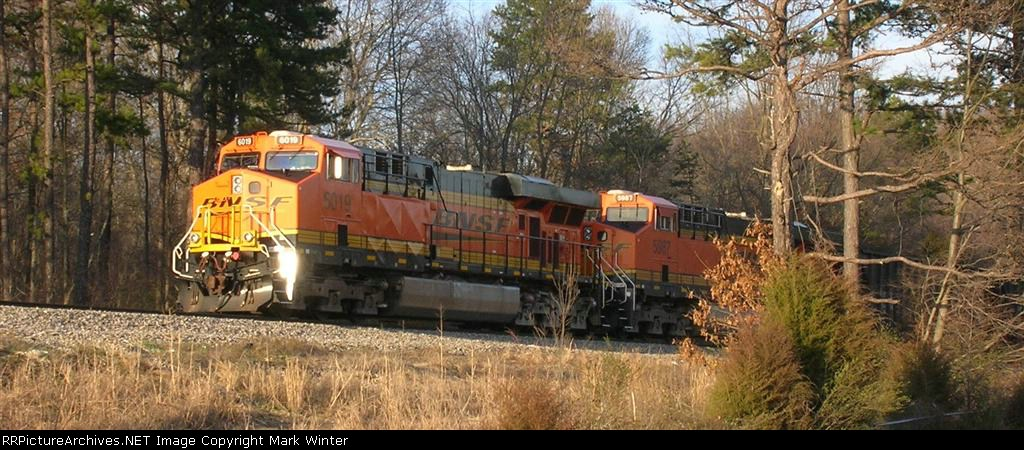 BNSF 6019 and BNSF 5987, just off I75 near Lee Highway