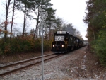 NS 5327 leading toward mainline in late afternoon