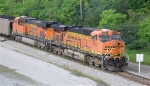 BNSF 5765 leading unit coal train