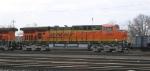 BNSF 5804 leading train of RWSX hoppers