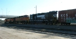 BNSF 4845 leading its consist toward the hump yard
