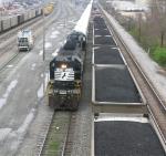NS 3233 pulling the FEMA hurricane relief trailer train