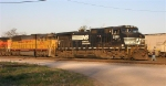 NS 9358 and other units getting ready to move out of the yard
