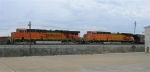 BNSF 5761 and BNSF 5661 waiting on mainline for signal,