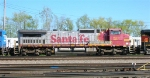 BNSF 829 as 2nd unit in mixed freight