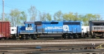 "NS 3048 ""Conrail Quality"" as 3rd unit in mixed freight"