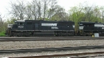 NS 6632 leading a mixed freight into the yard