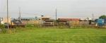 CSX 691 and CSX 696 lead SB stack train