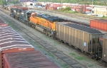 NS 9450, NS 8859 and BNSF 7795 in the yard