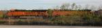 BNSF 5807 and BNSF 5706 with coal train, at Shipps Yard,