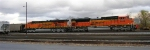 BNSF 9345 and BNSF 6122 in the yard, near McCallie Ave., waiting for a crew