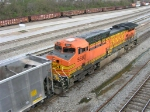 BNSF 5680 at end of SB unit coal train,
