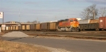 BNSF 6007, at the end of coal train in yard,