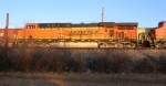 BNSF 5923 leading empty coal train to stop at signal on mainline