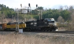 NS 9767 and HLCX 5972, former UP 5972, SB to Chattanooga,