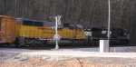 NS 9767 and HLCX 5972 SB at Thrasher Pike,