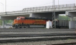 BNSF 5833 at end of WB empty coal train,