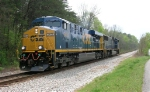 CSX 5450 EB running light from Wauhatchie Yard,